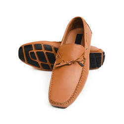 Brown Leather Casual Loafer Shoes