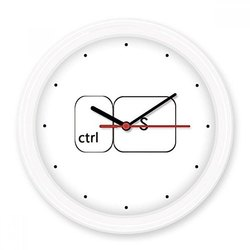 Plastic White Wall Mount Gift Clock, Packaging Type: Box