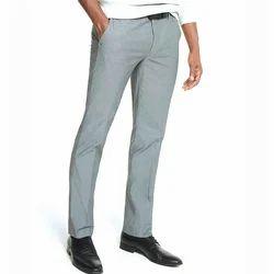 Grey Office Wear Mens Plain Pant, Handwash