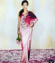 Digital Satin Saree