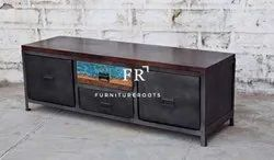 Hotel Bedroom Furniture - Rustic TV Cabinet - Vintage Furniture & Resort Furniture
