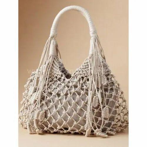 Natural Custom Brand Designer Macrame Handbags  7306b4520e919