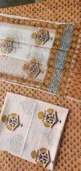Vinayakam Exports Printed Jaipur Hand Block Printed Kota Doria Dupatta Set