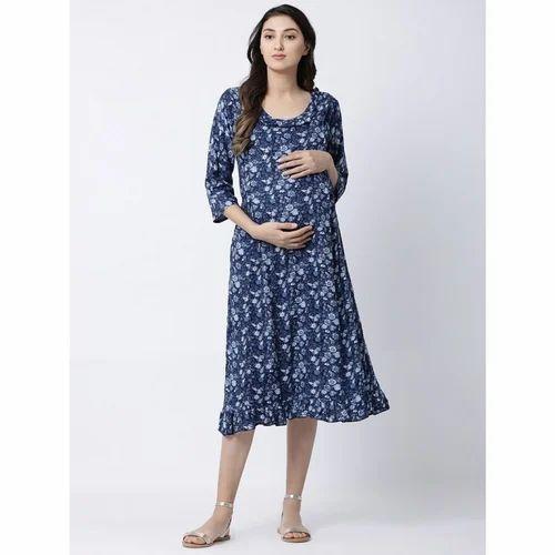 Full Length Maternity Dress