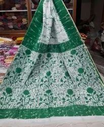 Batik Print Saree, 6.3 m (with blouse piece)