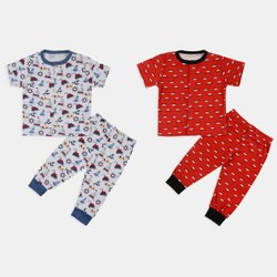 TinyTrends Girl & Boy Baby Night Set , New Born Baby Clothes, Size: 0 Months Till 18 Months