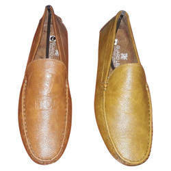 Brown Leather Mens Casual Loafer Shoe