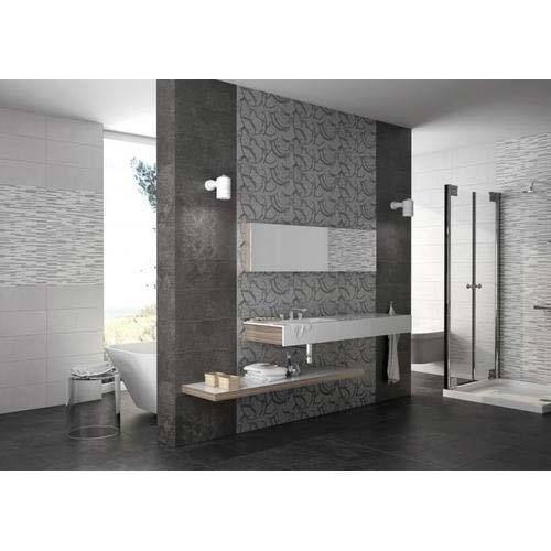 gloss digital 300x450 3d bathroom wall tiles thickness 8