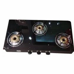 Three Burner Gas Stove, Packaging Type: Box