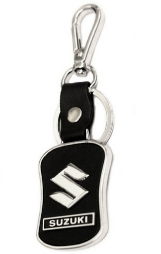 Suzuki Metal Chrome Logo Keyring Key Fob