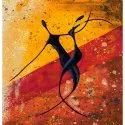 Naag Uv Coated Tribal Dancer Painting