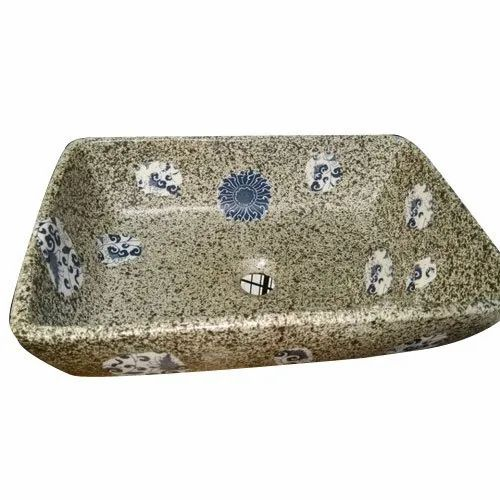 Table Top Printed Ceramic Wash Basin, for Bathroom