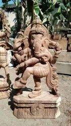 Dancing wooden Ganesha