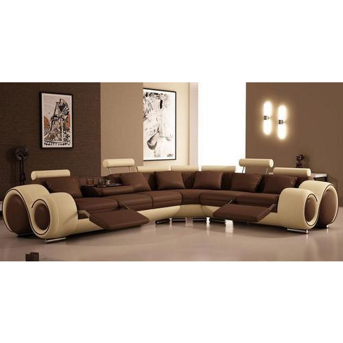 Designer Living Room L Shape Sofa at Rs 30000 /piece | L Shape Sofa ...