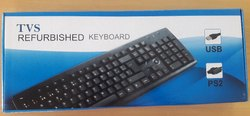 With Wire Black Tvs Gold USB KeyBoard, Size: Regular