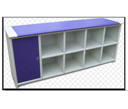 Wooden Purple Colour Cupboard