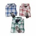 Mens Cotton Casual Collar Neck Check Shirt, Size: M, L & Xl