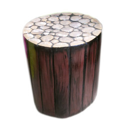 Multi Purpose Wooden Look Stool