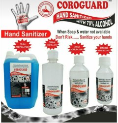 Hand Sanitizer (70% Alchohol)5 Ltr/500ml/200ml/100ml