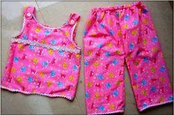 Kids Pink Color Printed Dress