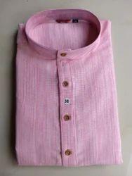 Cotton Pink Long Kurta Paijama
