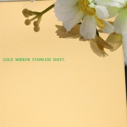 Gold Mirror Stainless Sheets