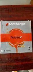 1sqmm Greath White Wire Bundle 90mtr