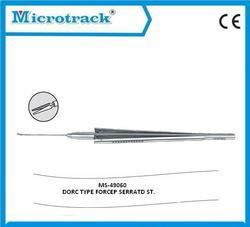 Vitreoretinal Serrated Straight Forceps - Ophthalmic Surgical Instruments
