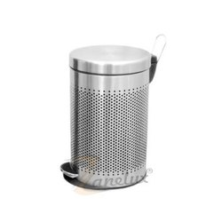 Round Perforated Peddle Bin