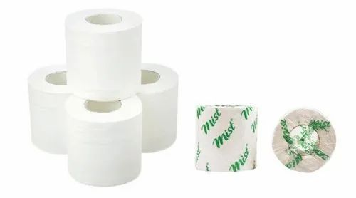 White Plain Toilet Roll-Virgin & Recycle, Size: 25-150 Mtr