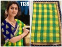 Panetar Silk Checks Saree