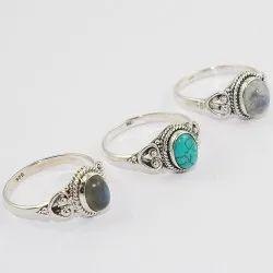 Professional Multi Gemstone 925 Sterling Silver Ring Handmade Jaipur Wholesale Silver Jewelry