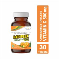 Radiplex Non Acidic Buffered Vitamin C Chewable Tablets