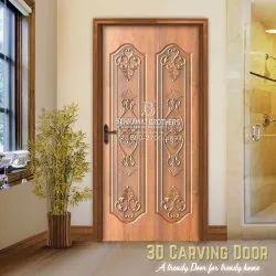 WPC Hinged 3D Door, Height: 84 inch
