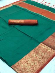 india attiers Cotton Kota Silk Saree, With Blouse Piece