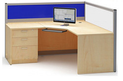 L - Type Office Workstation With Penta Top