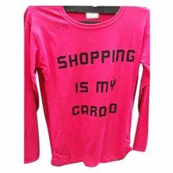 Ladies Full Sleeve T Shirt, Size: M-XXL