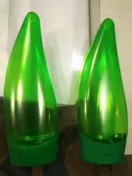 120 Ml Pet Leaf Bottle With Flip Top Cap