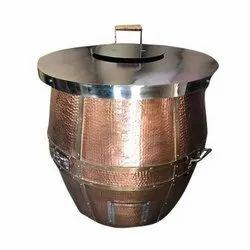 S Steel Top Copper Tandoor 36X36
