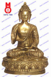 History Buddha Sitting Carved Statue (Blessing Hand)