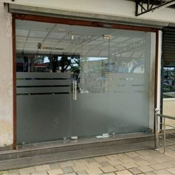 Frosted Glass Swing Office Entrance Glass Door, Thickness: 10-12 Mm (glass Thickness)