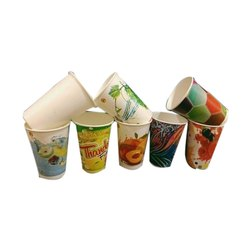 200 mL Printed Disposable Paper Glass, Packet Size: 100 Pieces