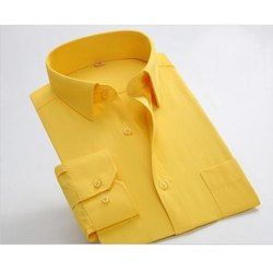 Plain Smart-X Men's Yellow Formal Shirt