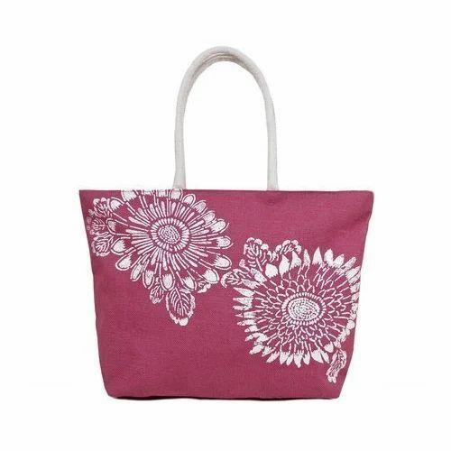 0d4efe7df7 Ladies Printed Jute Bags at Rs 200  piece