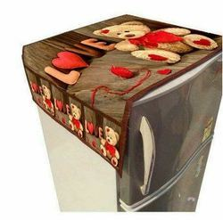Digital Print Refrigerator Top Cover with 6 Pockets