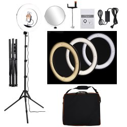 Camera Photo, Video Dimmable Ring Light 18-inch
