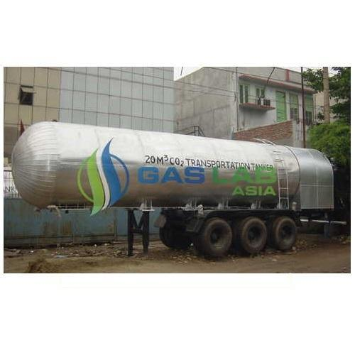 SS Gas Lab Long Distance Transportable and amp Mobile CO2 Tankers, Capacity: 5000-10000 L
