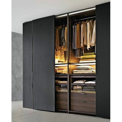 Wooden Black Modern Wardrobes Rs 38000 Piece Da Design