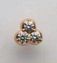 Three Circle Diamond Nose Pin
