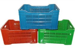 Blue Red Green Plastic Vegetable Storage Crates, Capacity: 20kg